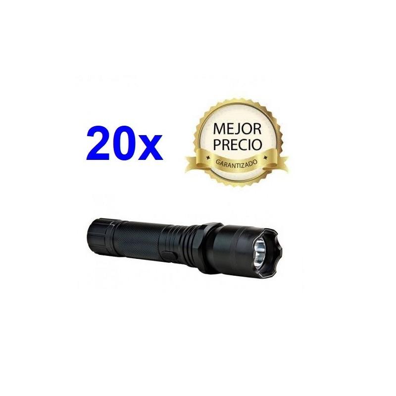 PORRA LINTERNA DEFENSA ELECTRICA POLICIAL MOD. 2013 CON 1000 KV Y CON LUZ LED SEGADORA DE 160 LUMENS
