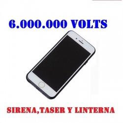 DEFENSA ELECTRICA STUN GUN TASER TELEFONO I PHONE 6 CON 6.000.000 VOLTS
